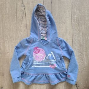 (2/$15) Roxy Blue Hoodie with Frill Detail